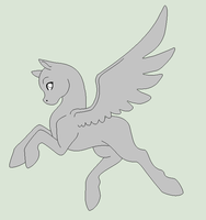 Original Base - Jolly Pegasus Pony by Shadow-Bases