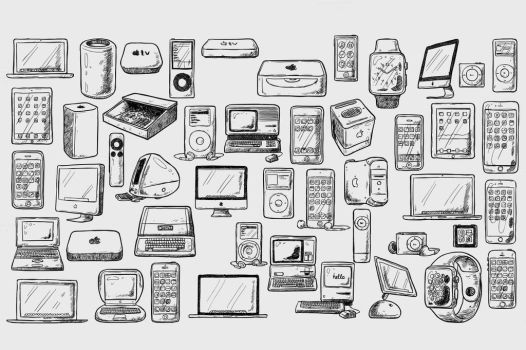 iSketches of Apple's products by sandracz