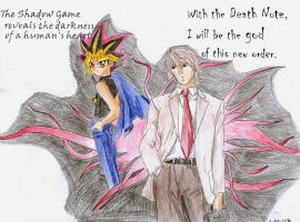 Day 359- Yami no Yugi vs Light by starfireelf15