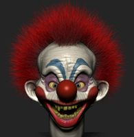 Killer clown from outer space wip -1 by Simulacrumble