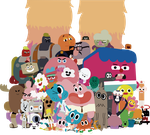 The Amazing World of Gumball - Elmore people by XxmorwullxX