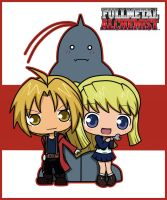 ed and al and winry - yay by IgyChyin
