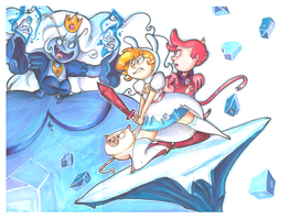 Fionna vs. Ice Queen by Elixirmy