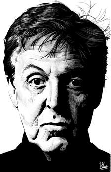 Paul McCartney (Ink Drawing) by wilson-santos