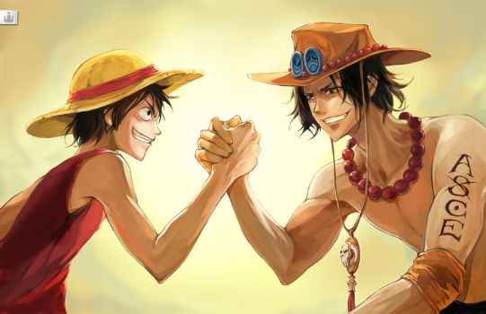 Luffy x Ace Brotherhood by koloromuj