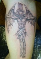 crucified demon by arcaneserpent