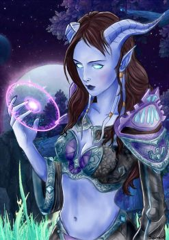 Draenei mage by Saliancia