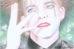 Robert Smith - The Caterpillar by AllCatsAreGreyART
