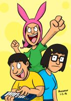 Daily Drawing 1-5-16 Bob's Burgers by joshnickerson