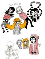 Just some more creepypasta sketches by HimekoHimemiya1313