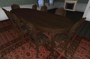 Victorian Dining Room by FarmandRules