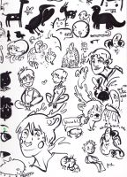 Oodles of Brush Pen Doodles by BlueCheshireCat