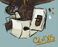 GLaDOS doodle by Shad0wstream