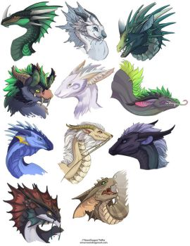 Dragon Heads 1 by neondragon