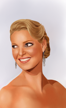 Katherine Heigl painting by TRAVELLINGTHEC0SM0S