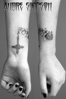 Cross, vines and rose tattoo by ERASOTRON