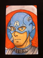Sketch Card: Captain America by KnoppGraphics