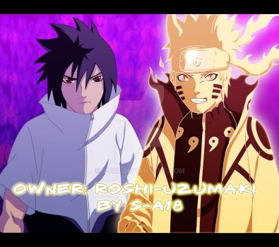 Commision Naruto and Sasuke by S-A18