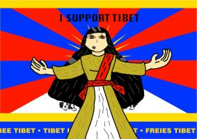 I SUPPORT TIBET Poster by GeneralHelghast