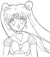 Sailor Moon Lineart by kawaiikanye