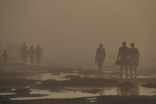 People in the fog by Mia16