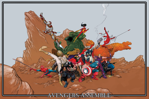 NYCC Avengers Print final by RobPaolucci