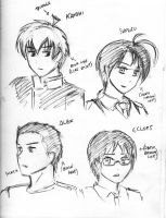 bunch of new character sketches by HaloCapella