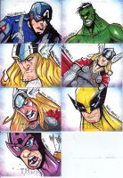 THOR Sketch Cards Set 2 by Bloodzilla-Billy