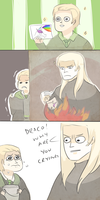 HP: POOR DRACO by Randomsplashes