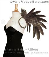 Grey ALLISON feather Wings by eProductSales
