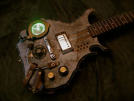 Steampunk Guitar by steampunk22