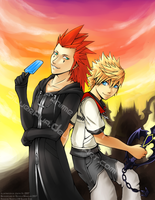 Axel and Roxas Print by silverava