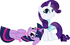 Rarity and Twilight by MuhMuhMuhImDead
