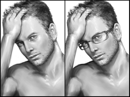 With or without glasses? by daimoc-art