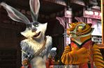 Bunnymund/Tigress by angeelous-dc