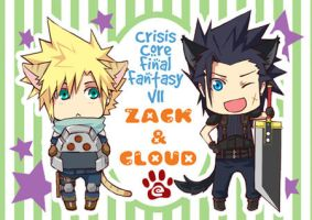 Postcard: Zack+Cloud by semokan