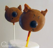 Wombat Truffle Pops by cakecrumbs