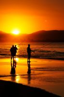 Sunset fishermen - Byron 1 by wildplaces