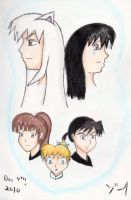 Inuyasha and the gang by Kogalover-Zoe
