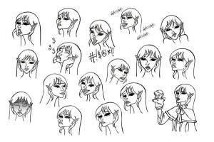 Ico expressions by karla-chan