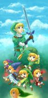 25 years of Legend of Zelda by anokazue