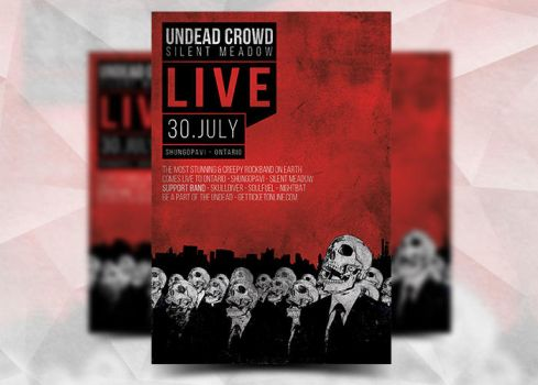 Undead Crowd Flyer by Flyermarket