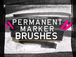 Permanent Marker Brush Pack by MVRH