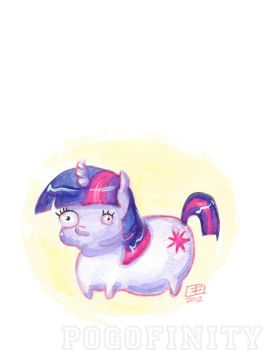 Derpface Twilight Sparkle by Pogofinity