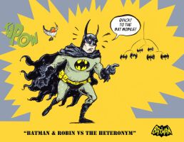 Batman and Robin vs The Heteronym by sonny123