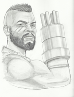 Mars Crain as Barret Wallace by white-materia