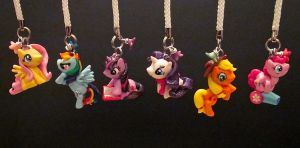 Mane Six Charm Set by minnichi