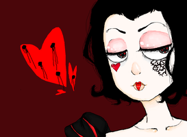 Queen of Hearts by mouseorgans