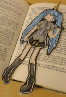 Adventure Time/Miku Bookmark by EvaHolder