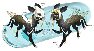 Fluttering wings (Design Commission for Vaas) by fluffygreysocks